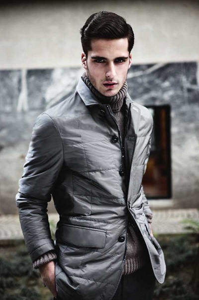 Janice Fronimakis by Giovanni Gastel for Canali F/W 2011-12