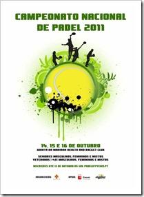 Campeonato Nacional de Pádel para veteranos 2011 del 14 al 16 de octúbre en Cascais, Portugal.