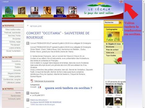 Le Ségala traduccion en occitan