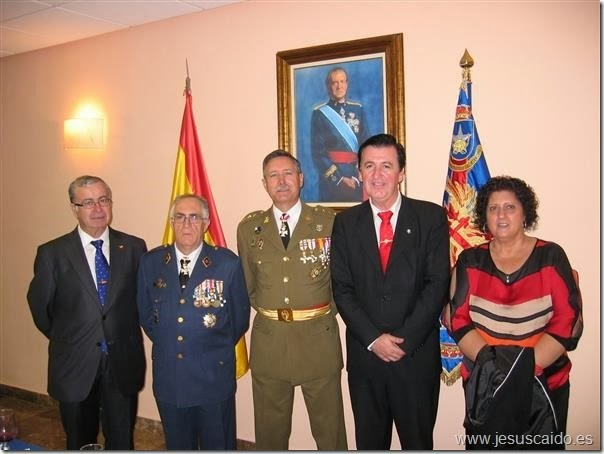 Con el coronel Jefe del Centro Geográfico del Ejército