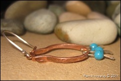 copper hoops close