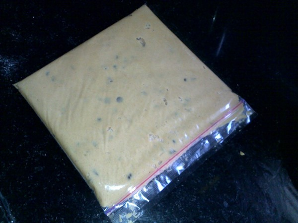 Cookie dough in zip lock bag
