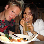 matt and yuka dinner on top of the sumitomo building in shinjuku in Roppongi, Tokyo, Japan