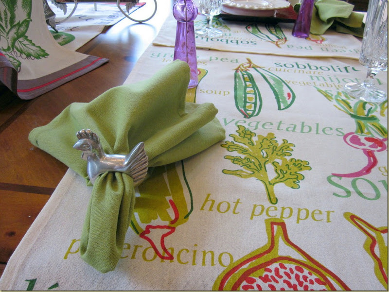 artichoke table napkin done