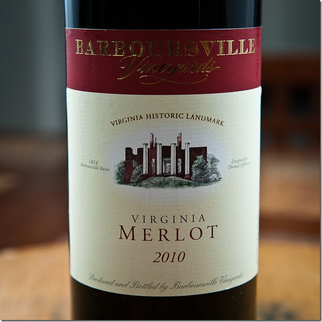 2010 Barboursville Vineyards Virginia Merlot
