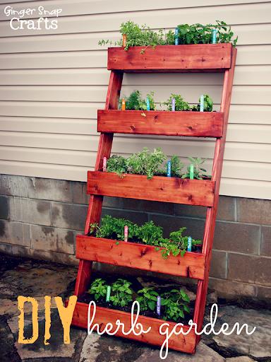 Ginger Snap Crafts DIY Herb Garden tutorial digin ad