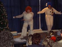 Празднование нового 2006 года в Пушкинской школе декабрь 2005 г.