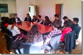 El intendente de La Costa, Juan Pablo de Jesús, escuchó inquietudes de estudiantes secundarios