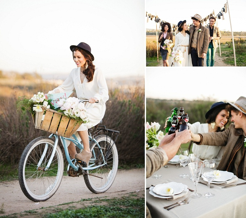 11 OakandtheOwl Bride on Bike