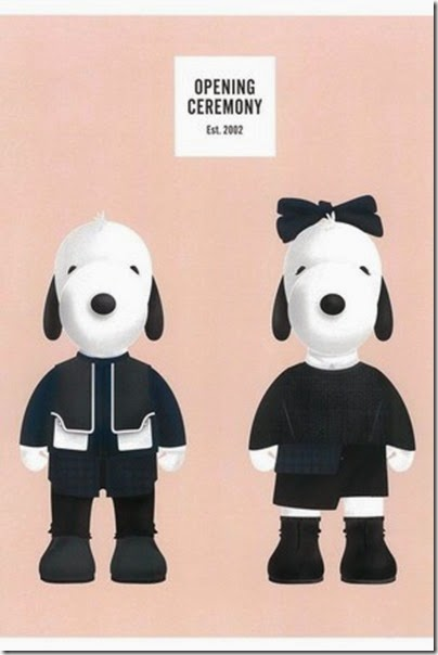 Peanuts X Metlife - Snoopy and Belle in Fashion by Opening Ceremony