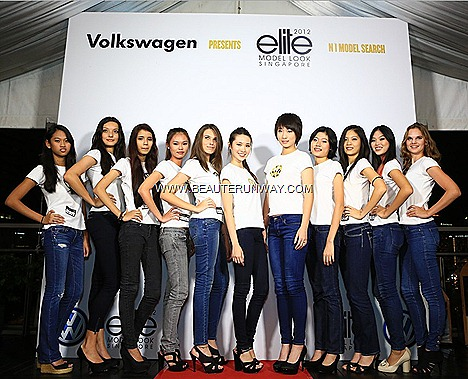 Elite Model Look Singapore Finalists 2012 Lena Stewen Winners Jenevieve Woon Francesca Tan Eugena Phang Rinna Murni Nicolle Lim, Vincere Ong, Clarissa Dharmaseta, Praveena Kaur, Cheryl Tham Lilith Van Der Hulst Natali Ghui Casting