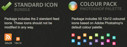 standard rss icons