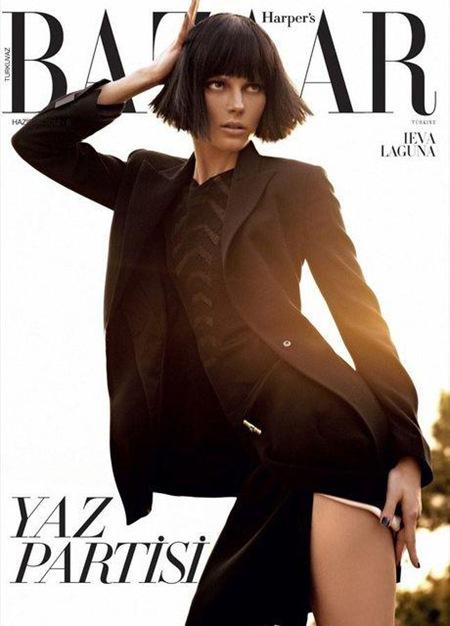 Ieva Laguna for Harper's Bazaar Turkey June 2012