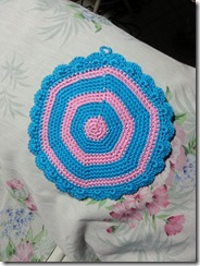 back of blue pink mandala