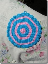 back of blue pink mandala