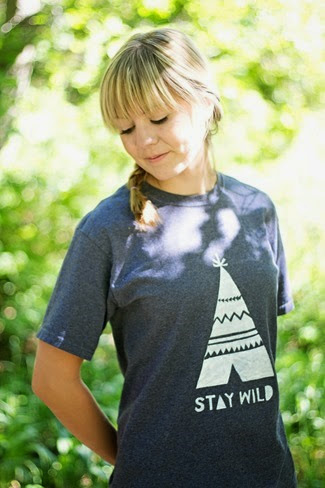 DIY Stay Wild Tshirt