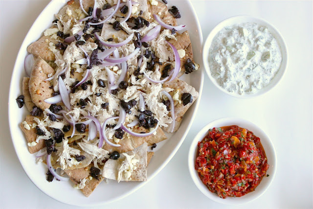 Greek {Chicken} Nachos