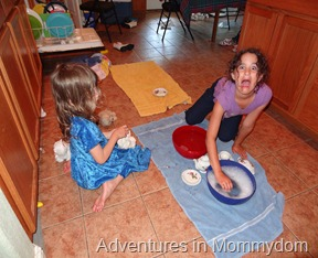 hand washing dishes for kids