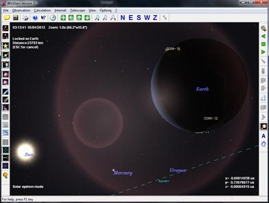 WinStars Free 3D Solar System Software