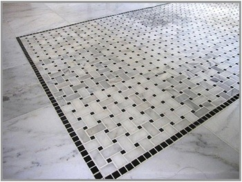 Carrara Basketweave Floor