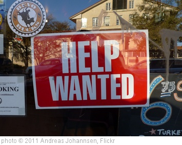 'Help wanted sign' photo (c) 2011, Andreas Johannsen - license: http://creativecommons.org/licenses/by/2.0/
