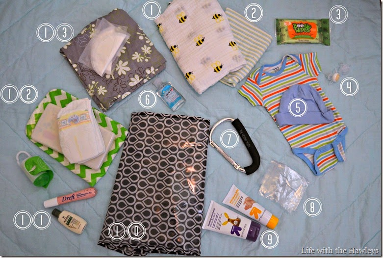 Infant Diaper Bag Contents