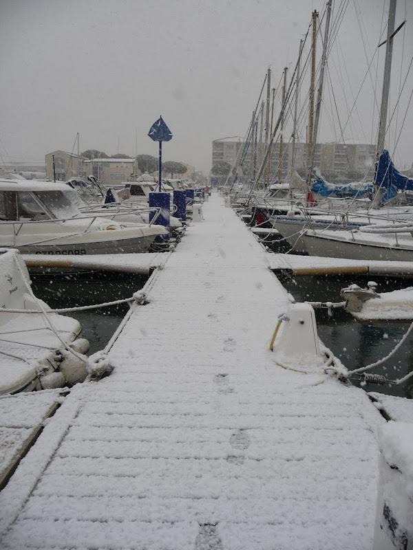 Port Saint Louis sous la neige