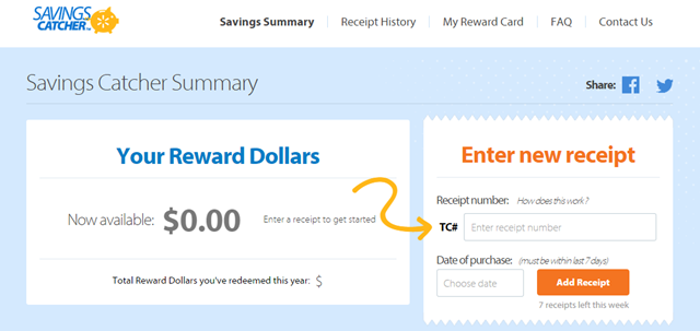 savings from Walmart Savings Catcher