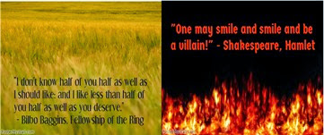 Picture montage Shakespeare and Bilbo quote