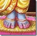 Vishnu's lotus feet