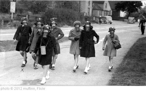 'Gas mask practice Hallow School 1940s' photo (c) 2012, muffinn - license: http://creativecommons.org/licenses/by/2.0/