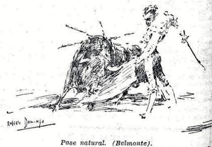 1933-02-04 (La Voz-Teoria) Belmonte dibujo de Roberto Domingo)