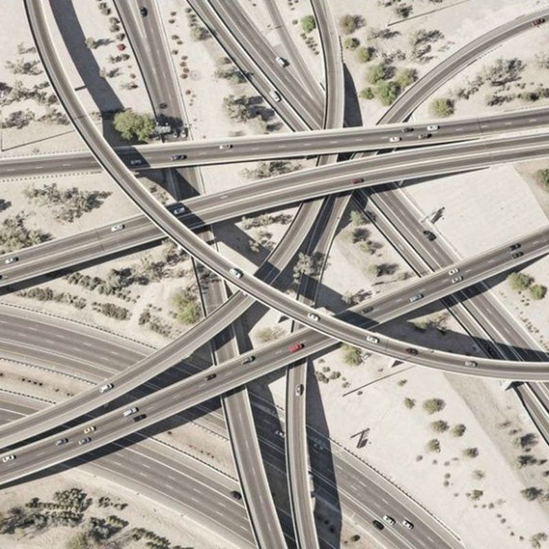 Gorgeous Pictures of Highway Interchanges by Peter Andrew