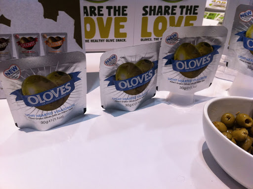 Trend alert: olives in pouches! Celeb chef Cat Cora is marketing one, too. Who knew?