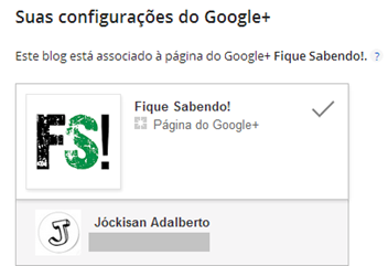 Blog integrado com página do Google