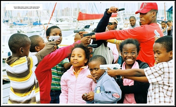 ANC KIDS LEARNING EXECUTION GAME DURBAN PHOTOGRAPHER SNOWY SMITH DURBAN MARINA Oct 17 2008