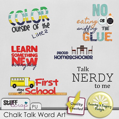 Chalk Talk WORDART