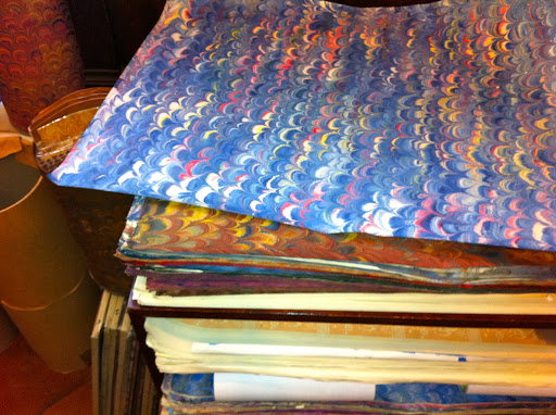 Beautiful papers for wrapping or framing.