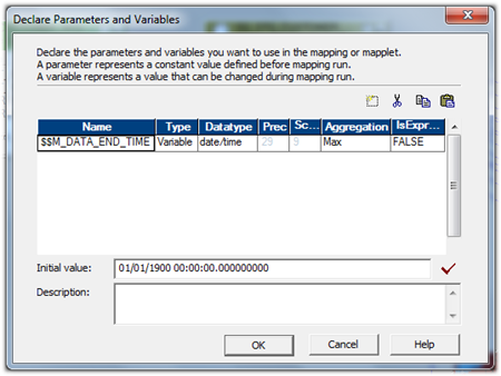 informatica mapping variable