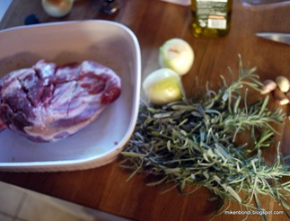 Roast lamb shoulder with lavender