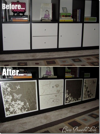 friday feature ikea expedit cabinet from my crazy beautiful life blog