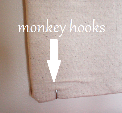 monkey hooks to hold diy memo board