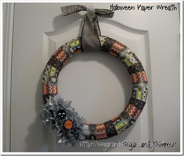Paper Halloween Wreath