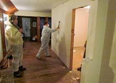 1311172 Nov 24 Barb Starts On Bedroom Wall