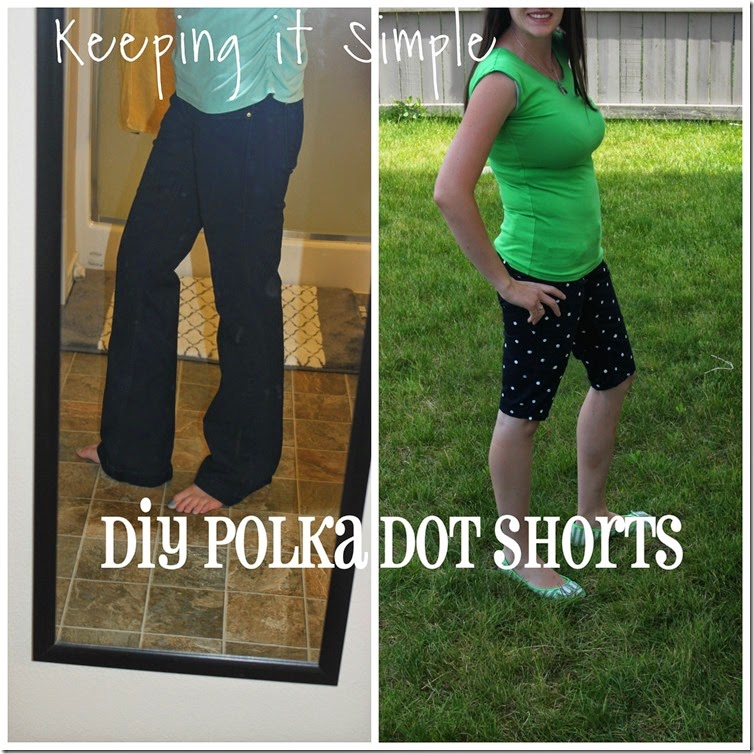 DIY polka dot shorts