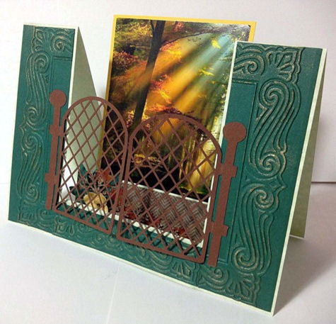 lattice fence post card