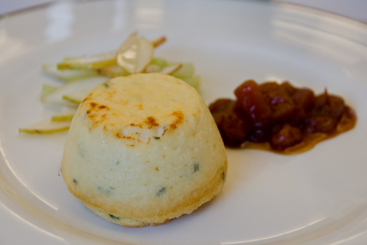 Cheese souffle at Fortnum & Masons