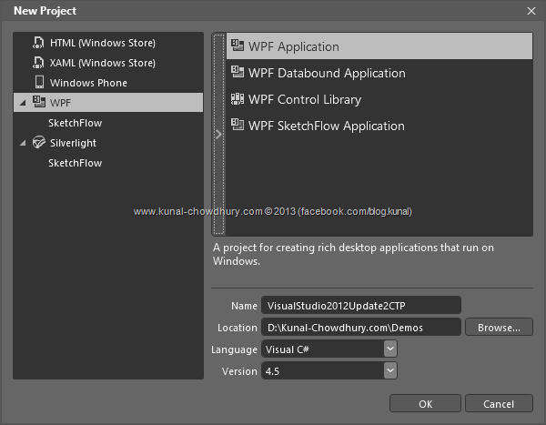 Blend for Visual Studio 2012 Update 2 CTP