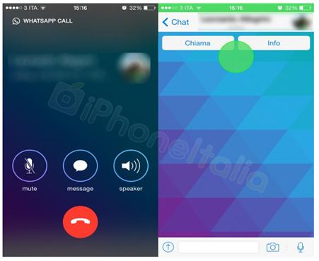 [ruutukaappaus] WhatsApp äänipuhelut (c) iPhoneItalia