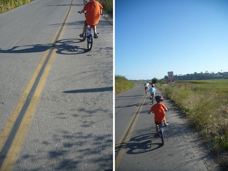 biking at newport back bay